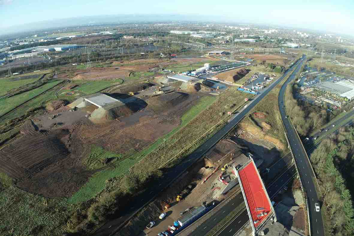 Drone footage of H22 interchange site December 2020
