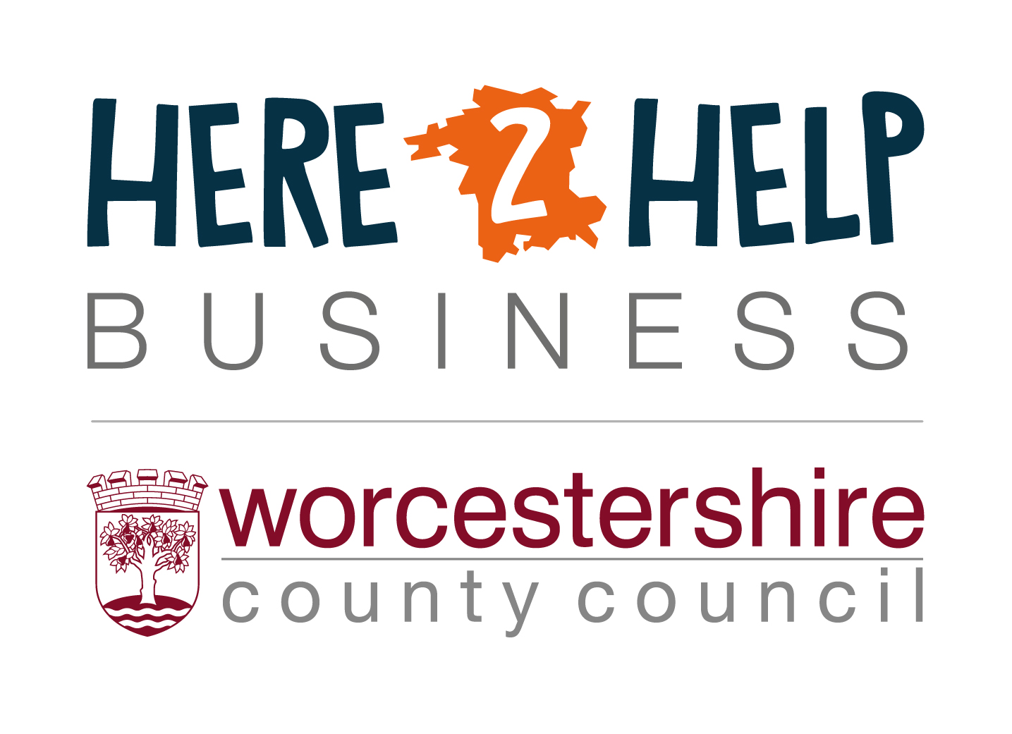 Here 2 Help Business and Worcestershire County Council logos