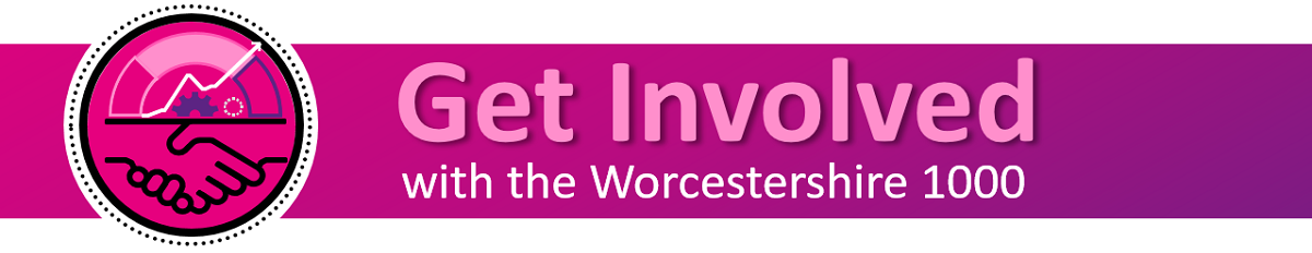 Get involved with the Worcestershire 1000 decorative banner