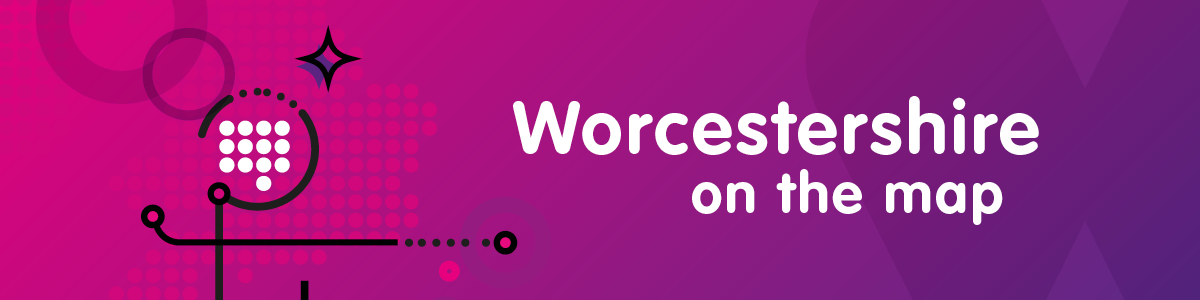 Worcestershire on the map